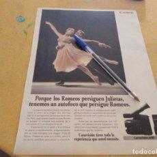 Catálogos publicitarios: ANTIGUO ANUNCIO PUBLICIDAD REVISTA VIDEOCAMARA CANOVISION A10 ESPECIAL PARA ENMARCAR . Lote 173522013