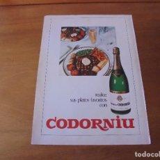 Catálogos publicitarios: PUBLICIDAD 1973: CODORNIÚ. Lote 173629783