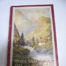Catalogues publicitaires: CATALAGO PUBLICITARIO. CENTRAL WALES SPAS AND HOLIDAY RESORT. WALTER M.GALLICHAN. ILUSTRADO. Lote 173773695