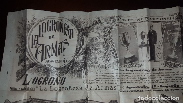 Catálogos publicitarios: La Logroñesa de Armas - Catálogo de 1929 - 1930 - Foto 2 - 174045525