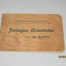 Catálogos publicitarios: ANTIGUO LIBRITO PAISAJES ORIENTALES EN ESPAÑA DE LOS FERROCARRILES VECINALES DE ALICANTE - AÑO 1910S. Lote 174209213
