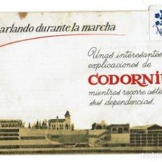 Catálogos publicitarios: CHARLANDO DURANTE LA MARCHA / CAVAS CODORNIU / SANT SADURNÍ D'ANOIA / FOLLETO TURÍSTICO. Lote 174462327