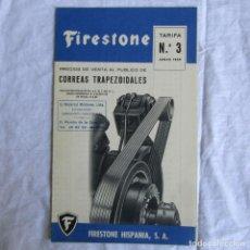 Catálogos publicitarios: TRÍPTICO FIRESTONE 1959 CORREAS TRAPEZOIDALES. Lote 175296134