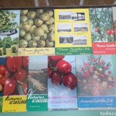 Catálogos publicitarios: LOTE CATÁLOGO VIVEROS CASTILLA, 10 DESDE 1955 A1965. Lote 175648018