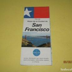 Catálogos publicitarios: ANTIGUO MAPA MANUAL TURÍSTICO DE LA CIUDAD DE SAN FRANCISCO USA OBSEQUIO CIA. AÉREA PAN AM AÑO 1969. Lote 176002093