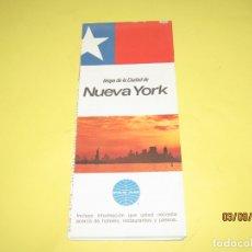 Catálogos publicitarios: ANTIGUO MAPA MANUAL TURÍSTICO DE LA CIUDAD DE NUEVA YORK USA OBSEQUIO CIA. AÉREA PAN AM AÑO 1969. Lote 176002328