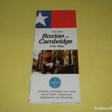 Catálogos publicitarios: ANTIGUO MAPA MANUAL TURÍSTICO DE LA CIUDAD DE BOSTON USA OBSEQUIO CIA. AÉREA PAN AM AÑO 1969. Lote 176002640