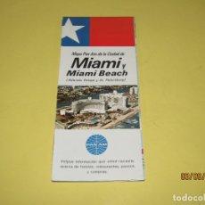 Catálogos publicitarios: ANTIGUO MAPA MANUAL TURÍSTICO DE LA CIUDAD DE MIAMI USA OBSEQUIO CIA. AÉREA PAN AM AÑO 1969. Lote 176003105