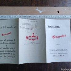 Catálogos publicitarios: CATÁLOGO TRÍPTICO ACCESORIOS BISCUTER. AUTINACIONAL. Lote 176236489