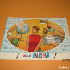 Catálogos publicitarios: ANTIGUO CATÁLOGO DE REGALOS VALISPAR DE SPAR CON MAGNÍFICOS JUGUETES - AÑO 1966. Lote 176386314