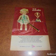 Catálogos publicitarios: PUBLICIDAD 1973: MUÑECA SALTARINA DE FAMOSA, ONIL (ALICANTE). Lote 176394442