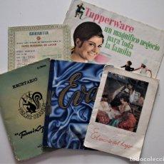 Catálogos publicitarios: LOTE 5 PUBLICACIONES DE ÉPOCA TEMÁTICA HOGAR, LA LECHERA, TURMIX BERRENS, TUPPERWARE, BRU Y EVA. Lote 176906740