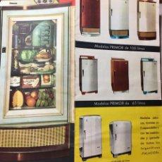 Catálogos publicitarios: FOLLETO DESPLEGABLE FRIGORÍFICOS PALACIOS. BURGOS. 1961. Lote 177011103