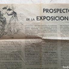 Catálogos publicitarios: GRANADA. PROSPECTO DE LA EXPOSICIÓN GITANA. ANDRÉS. F. SORIA. Lote 177030535