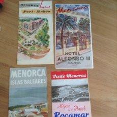Catálogos publicitarios: MENORCA, HOTEL ROCAMAR, ALFONSO III, PORT-MAHÓN,. Lote 177489163