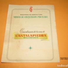 Catálogos publicitarios: ANTIGUO TRÍPTICO SERVICIO DE CONCENTRACIÓN PARCELARIA ZONA CANTALAPIEDRA SALAMANCA. Lote 177876413