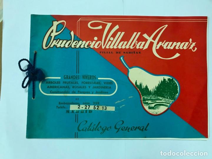 CATALOGO GENERAL VIVEROS PRUDENCIO VILLALBA ARANAZ, 1961-62.- MADRID. (Coleccionismo - Catálogos Publicitarios)