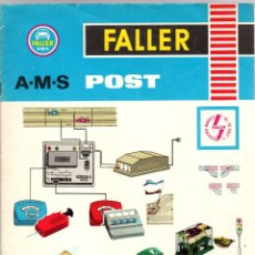 Cataloghi pubblicitari: CATALOGO FALLER AMS POST. 2 TECHNIK. EN FRANCES. Lote 178114215