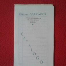 Catálogos publicitarios: ANTIGUO CATÁLOGO DÍPTICO EDICIONES SALVADOR MADRID 1968 RELIGIÓN BACHILLERATO MATEMÁTICAS LATÍN...... Lote 178184140