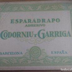 Catálogos publicitarios: ANTIGUO CATALOGO PUBLICITARIO ESPARADRAPO ADHESIVO CODORNIU Y GARRIGA. BARCELONA, VER INTERIOR FOT. Lote 178186361