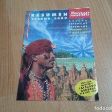 Catálogos publicitarios: NOUVELLES FRONTIERES -- VIAJES -- VERANO 2000. Lote 178370701