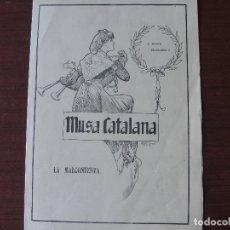 Catalogues publicitaires: MUSA CATALANA 1 - LA MALCONTENTA - AMB PARTITURA - COM NOU D´AVUI - ANYS 30?. Lote 178380325