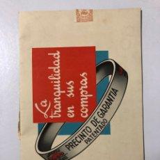 Catálogos publicitarios: CATALOGO DE MOBIOIL. GARGOYLE. PRECINTO DE GARANTIA PATENTADO. LA SEGURIDAD DE SU MOTOR. . Lote 178653500