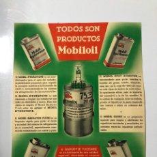 Catálogos publicitarios: FOLLETO - CATÁLOGO PUBLICITARIO DE MOBILOIL. BARCELONA. . Lote 178757966