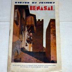 Catálogos publicitarios: BENASAL, CASTELLON, AGUAS DE FUENTE EN SEGURES, ATRACCION DE FORASTEROS, ILUSTRADO CON FOTOGRAFIAS.. Lote 178986238