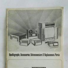 Catálogos publicitarios: ANTIGUO CATÁLOGO OSCILOGRAFOS TELEX MIDWESTERN INSTRUMENTS 1974. Lote 179003926
