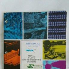 Catálogos publicitarios: ANTIGUO CATÁLOGO METAL PLATE INTERCONNECTING SYSTEMS CONNECTRONICS. Lote 179004087