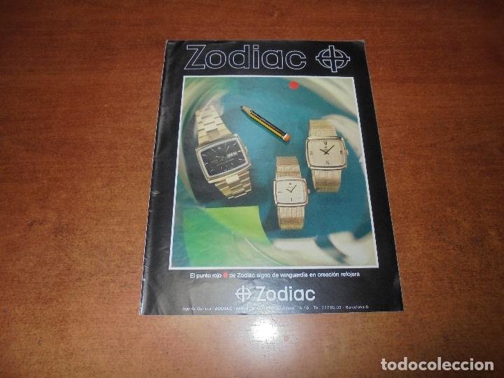 PUBLICIDAD 1976: RELOJ ZODIAC (Coleccionismo - Catálogos Publicitarios)