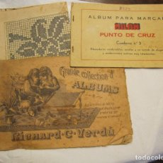 Catálogos publicitarios: DOS CUADERNOS PUNTO DE CRUZ. MILAN, Nº 3 Y RICHARD C. VERDÚ, Nº 34. LETRAS Y DIBUJOS. Lote 179085478