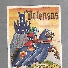 Catálogos publicitarios: PEQUEÑA PUBLICIDAD DE FARMACIA. EN CARTON. DEFENSAS. CASEODINA IFABI. VER DORSO. Lote 179240488
