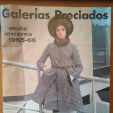 Catálogos publicitarios: PUBLICIDAD OTOÑO INVIERNO 1965-66 GALERÍAS PRECIADOS VENTA POR CORRESPONDENCIA. Lote 179250115