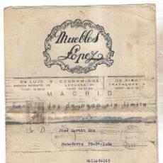 Catálogos publicitarios: MUEBLES LOPEZ. MADRID. 1951. CATALOGO DE LAS ULTIMAS NOVEDADES. SALONES, DORMITORIOS. VER. Lote 179384628
