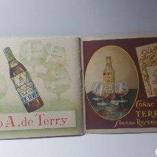 Catálogos publicitarios: CATÁLOGO PUBLICITARIO AÑO 1942. BODEGAS TERRY. EN CARTÓN. 10 X 15 CM. Lote 180237501