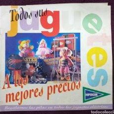 Catálogos publicitarios: CATÁLOGO JUGUETES HIPERCOR 1994. Lote 180248618