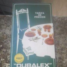 Catálogos publicitarios: VAJILLA DURALEX 2000 - TARIFA DE PRECIOS - TODOS LOS MODELOS - VICASA, ESPAÑA, 1973 - INENCONTRABLE. Lote 180458443