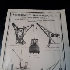 Catalogues publicitaires: FERROVIAS Y SIDERURGIA. Lote 180505491