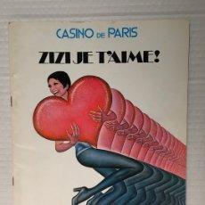 Catálogos publicitarios: CATALOGO PUBLICITARIO CASINO DE PARIS. Lote 180509006