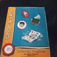 Catálogos publicitarios: CATALOGO EDITORIAL STUDIUM AÑO 1957 BARCELONA. Lote 180860306