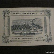 Catálogos publicitarios: CATALOGO LA COMPAÑIA DE MADERAS-BILBAO-AVILES-SANTANDER-MADRID-VER FOTOS-(V-17.851). Lote 180887026