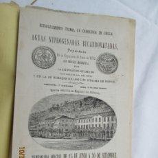 Catálogos publicitarios: UBILLA (VIZCAYA) - ESTABLECIMIENTO TERMAL DE ÚRBERUAGA - FOLLETO PUBLICITARIO - MADRID 1883.. Lote 180887615