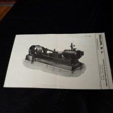 Catalogues publicitaires: FOLLETO DE BOMBAS DE VACIO VOLUM EN ZARAGOZA. Lote 180941386