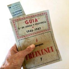 Catálogos publicitarios: ANTIGUA GUIA GRÁFICA DE LÉRIDA Y PROVINCIA 1946 - 1947 CON SU PUNTO DE LIBRO. Lote 181118202