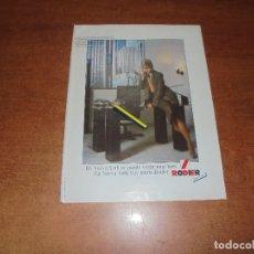 Catálogos publicitarios: PUBLICIDAD 1984: RODIER - CONSERVAS MIAU. Lote 181150117