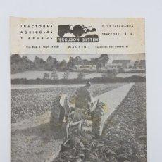 Catálogos publicitarios: CATÁLOGO ANTIGUO TRACTOR FERGUNSON ( AÑOS 50 ). Lote 181198207