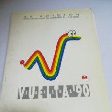 Catálogos publicitarios: CARTILLA. VUELTA ESPAÑA 1990. BENICASIM/MADRID. 45 EDICION. TIENE ETAPA, DETALLE, MAPA. CAJA POSTAL. Lote 181443652