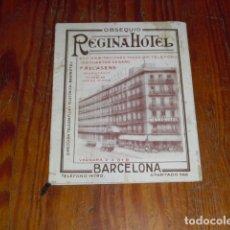 Catálogos publicitarios: HOTEL REGINA - CATÁLOGO PUBLICITARIO CON PLANO DE BARCELONA -. Lote 181872461